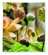 Sacred Lotus Painted Series Fleece Blanket