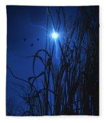 Sacred Moon... Fleece Blanket
