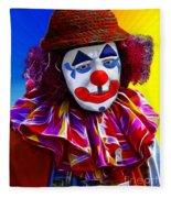 Sad Clown Fleece Blanket