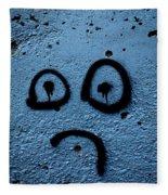 Sad Graffiti Fleece Blanket
