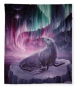 Sad Lonely Seal Fleece Blanket