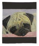 Snugly  Pug Fleece Blanket