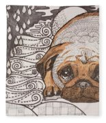 Sad Pup Fleece Blanket