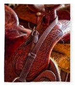 Saddle In Tack Room Fleece Blanket