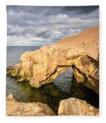 Saddle Rocks At High Tide Fleece Blanket