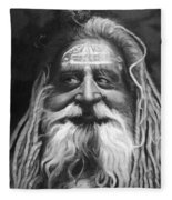Sadhu  Fleece Blanket