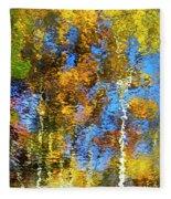 Safari Mosaic Abstract Art Fleece Blanket