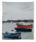 Safe Harbour On A Murky Day Fleece Blanket