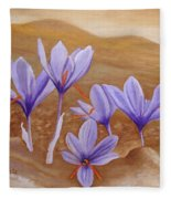 Saffron Flowers Fleece Blanket