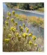 Sage Along The River Fleece Blanket
