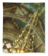 Sage Chapel Ceiling And Light Fleece Blanket