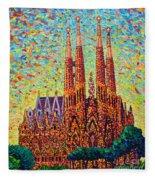 Sagrada Familia Barcelona Spain Fleece Blanket