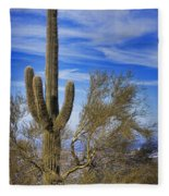Saguaro Cactus Of The Desert Southwest Fleece Blanket