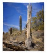 Saguaro Cactus Skeleton Fleece Blanket