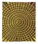 Saguaro Cactus Top Abstract #4 Fleece Blanket