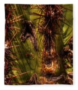 Saguaro Detail No. 21 Fleece Blanket