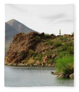 Saguaro Lake Shore Fleece Blanket