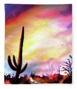 Saguaro National Monument Fleece Blanket