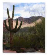 Saguaro National Park Fleece Blanket