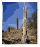 Saguaro Skeleton Fleece Blanket