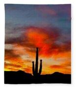 Saguaro Sunrise Fleece Blanket