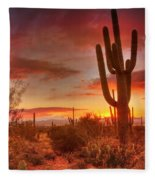 Saguaro Sunset Fleece Blanket