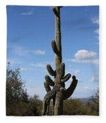 Saguaro With Extra Legs Fleece Blanket