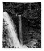 Sahalie Falls No. 4 Bw Fleece Blanket