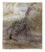 Saharan Rock Painting Fleece Blanket