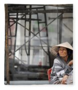 Saigon Lady Fleece Blanket