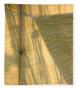 Sail And Shadows Fleece Blanket