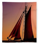 Sail At Sunset Fleece Blanket