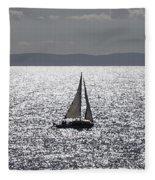 Sail Boat In A Sea Of Diamonds  Fleece Blanket