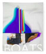 Sail Boats Fleece Blanket