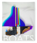 Sail Boats Fleece Blanket