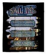 Sail Inn Fleece Blanket