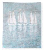 Sailaway By V.kelly Fleece Blanket