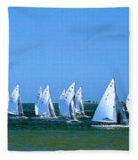 Sailboat Championship Racing 1 Fleece Blanket