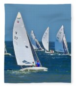 Sailboat Championship Racing 2 Fleece Blanket