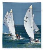 Sailboat Championship Racing 5 Fleece Blanket