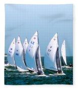 Sailboat Championship Regatta Fleece Blanket