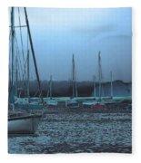Sailboat Harbor Fleece Blanket