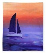 Sailboat Large 2015 Fleece Blanket