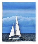 Sailboat No. 143-1 Fleece Blanket