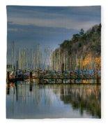 Sailboat Reflections Fleece Blanket