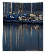Sailboat Reflections Fleece Blanket