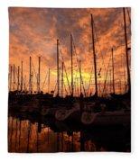Sailboat Sunset Fleece Blanket