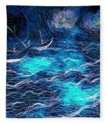Sailboats In A Storm Fleece Blanket