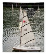 Sailboats In Central Park Fleece Blanket