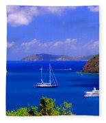 Sailboats In St. John's Fleece Blanket